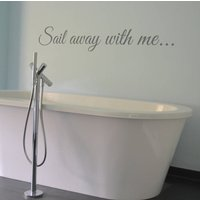 Sail Away With Me...Wall Sticker, Yellow Orange/Yellow/Orange