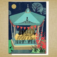 Bandstand Greetings Card