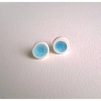 Melted Glass And Porcelain Ear Studs