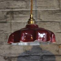 Campbell Claret Ceramic Pendant Light