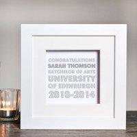 Personalised Graduation Box Frame