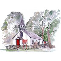 Personalised Wedding Venue Watercolour