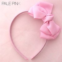 Angel's Face Bow Aliceband, Pale Pink/Pink/Silver