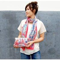 Rose Red Silk Clutch Bag