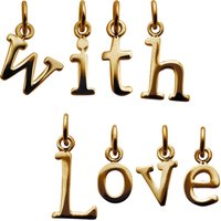 Selection Of Gold Letter Charms, Gold