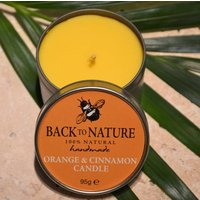 Orange And Cinnamon Natural Aromatherapy Candle