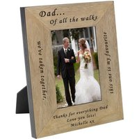 Personalised Keepsake Frame From The Bride To Her Dad