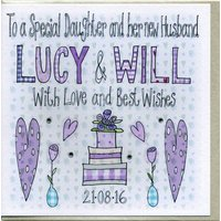 Personalised Special Daughter Wedding Card