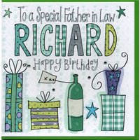 Personalised Father In Law Birthday Card