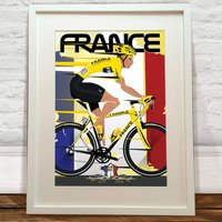 The Tour De France Bike Print