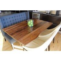Large Dining Table Walnut Pedestal Hairpin Base