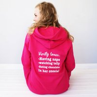 Personalised My Favourite Things Onesie, Hot Pink/Pink/Pale Pink