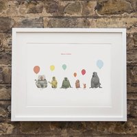 Baboons With Balloons Print