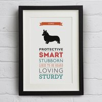 Corgi Dog Breed Traits Print