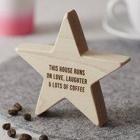 Personalised Family Wooden Star Keepsake