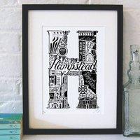 Best Of Hampstead Screenprint