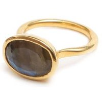 Labradorite Ring Gold Oval, Gold