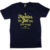 'Proper Job Fighter Pilot' Organic T Shirt, Blue