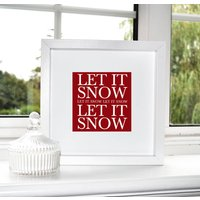 'Let It Snow' Print