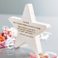 Personalised Wooden Star Award