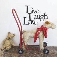 'Live, Laugh, Love' Vinyl Wall Sticker, Yellow Orange/Yellow/Orange