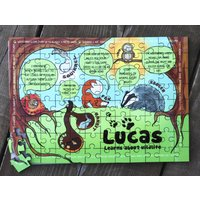 Personalised Learn About Wildlife Wooden Jigsaw Puzzle