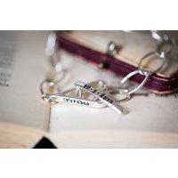 Personalised Heart Toggle Charm Bracelet
