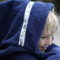 Childrens Personalised Hooded Towel | Up To 13yrs, White/Pink/Purple Navy