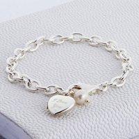 Personalised Sterling Silver Locket Bracelet, Silver