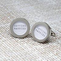 Silver Wedding Cufflinks, Silver
