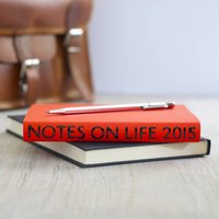 Notes On Life 2015 Neon Leather Diary