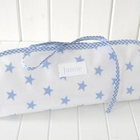 Personalised Baby Wipe Clean Changing Mat, Pink/Blue