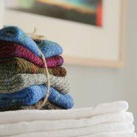 Harris Tweed Napkin Rings, Grey/Pink/Blue