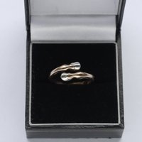 Horse Hooves Ring In Rose Gold, Gold