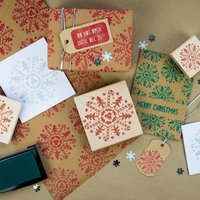 Christmas Motif Snowflake Rubber Stamp