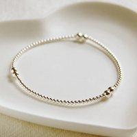 Delicate Sterling Silver Bead Bracelet, Silver