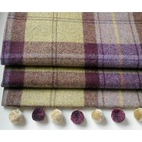 Blackberry Tweed Roman Blind