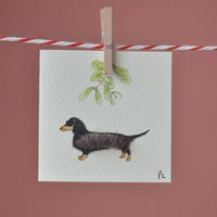 Christmas Dachshund Gift Tags, Pack Of Four