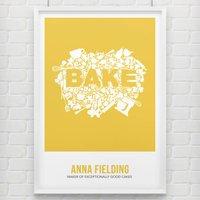 Bake Print, Golden Yellow/Yellow/Red