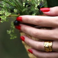 Gold Feather Ring: Take Flight, Gold