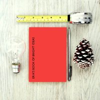 Personalised Neon Leather Notebook