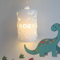 Personalised Star Ceiling Shade, White/Baby Pink/Pink