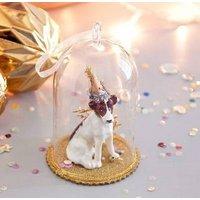 Party Dog Glass Decoration