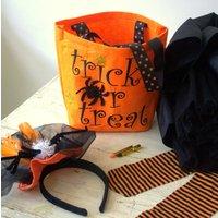 Halloween Trick Or Treat Bag, Black/Orange/Purple