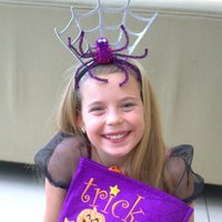 Halloween Spiderweb Headband, Black/Green/Purple