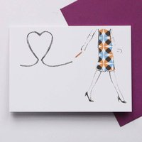 Pencil Heart Card