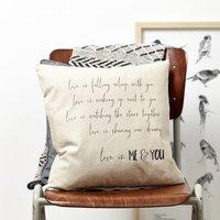 Personalised Love Is Valentine Cushion
