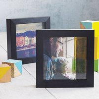 Personalised Transparent Photo Print With Frame, Black/White