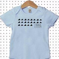 Personalised Name Organic Cotton Babygrow Or Jumpsuit, Pink/Blue/Black