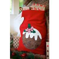 Personalised Red Vintage Style Pudding Sack